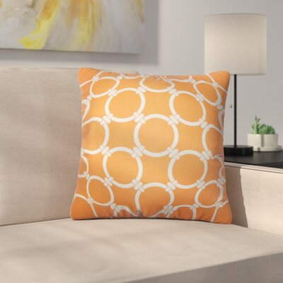Sontag Geometric Cotton Throw Pillow Cover Color: Orange