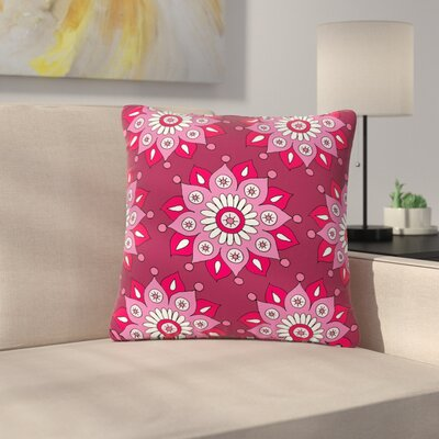Sarah Oelerich Flower Burst Outdoor Throw Pillow Color: Magenta, Size: 18 H x 18 W x 5 D