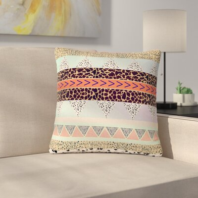 Vasare Nar Animal Print Tribal Outdoor Throw Pillow Size: 16 H x 16 W x 5 D