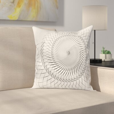 Abstract Art Underwater Shell Square Pillow Cover Size: 24 x 24