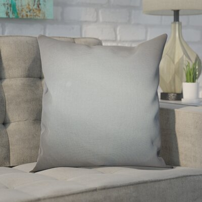 Portsmouth 100% Cotton Throw Pillow Color: Grey, Size: 18x18