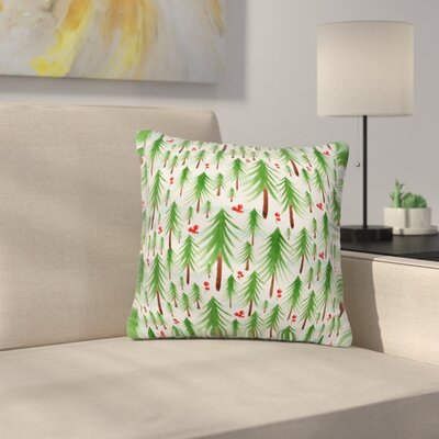 Heather Dutton Christmas Tree Farm Throw Pillow Size: 18 x 18