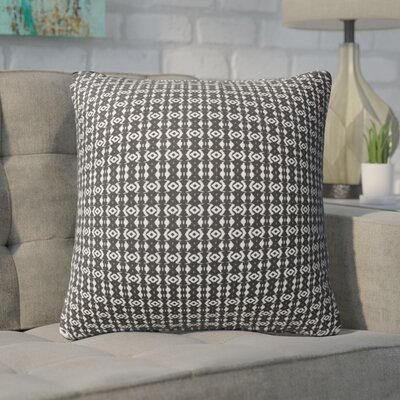 Buariki Throw Pillow Color: White/Black, Size: 24 H x 24 W