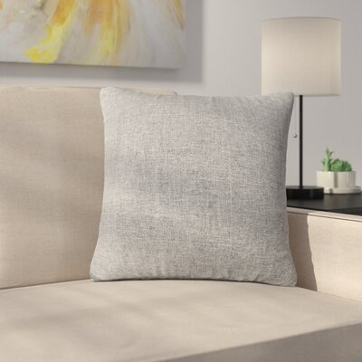 Mayne Water Resistant Square Outdoor Throw Pillow Color: Heather Gray