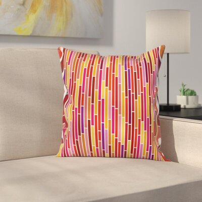 Stripe Lines Cushion Pillow Cover Size: 24 x 24