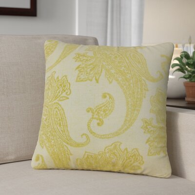 Gauron Paisley Throw Pillow Color: Lichen