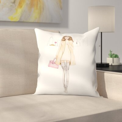 Nyc Chic Throw Pillow Size: 18 x 18