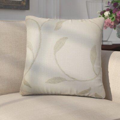 Ettore Floral Cotton Throw Pillow Color: Linen