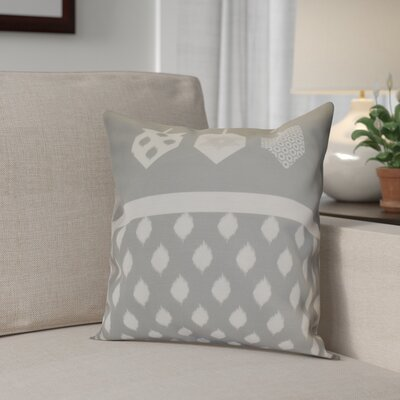 Hanukkah 2016 Decorative Holiday Geometric Throw Pillow Size: 16 H x 16 W x 2 D, Color: Gray