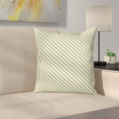 on the Bias Stripes Cushion Pillow Cover Size: 16 x 16