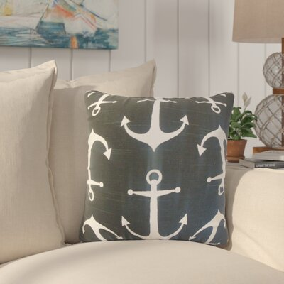 Jorie Coastal Cotton Throw Pillow Cover Color: Black