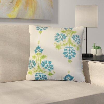 Bedwell Summerfield Ikat Cotton Throw Pillow Color: Aqua/Green