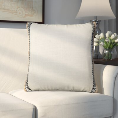Candelaria Embroidered Bordered 100% Cotton Throw Pillow
