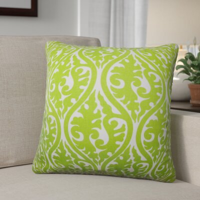 Parsons Geometric Cotton Throw Pillow Color: Chartreuse, Size: 24 x 24