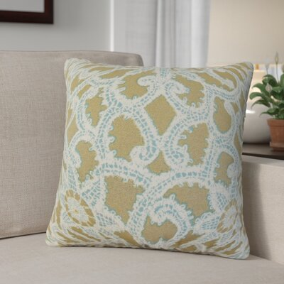 Giao Geometric Cotton Throw Pillow Color: Antique Gold