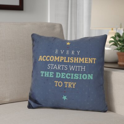 Giannini Every Accomplishment Throw Pillow