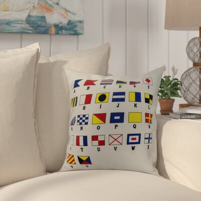 Cayer Multi Smaller Letter Geometric Print Indoor/Outdoor Throw Pillow Size: 16 x 16