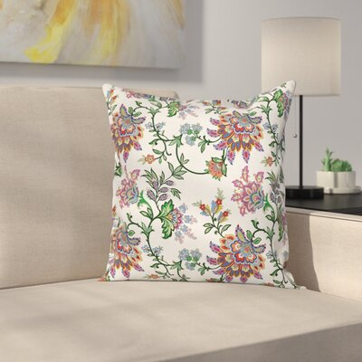 Modern Flower Square Pillow Cover Size: 18 x 18