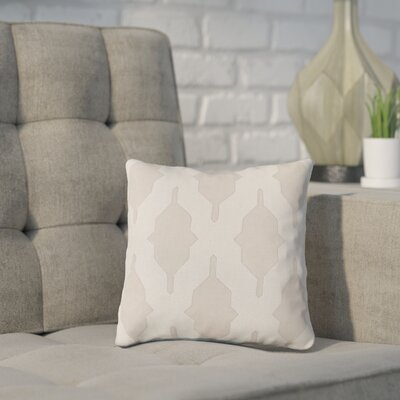 Meadors Throw Pillow Size: 20 H x 20 W x 4 D, Color: Light Gray, Filler: Down