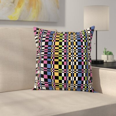 Checkered Art Square Pillow Cover Size: 16 x 16