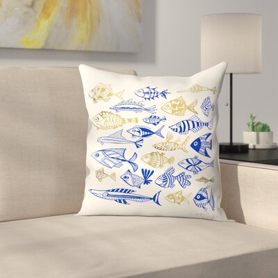 Fish in Klings Throw Pillow Size: 18 x 18