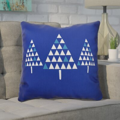 Christmas Trees Throw Pillow Size: 20 H x 20 W, Color: Royal Blue