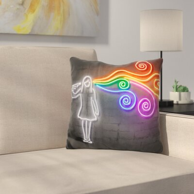 The Dark Side of the Mind Throw Pillow