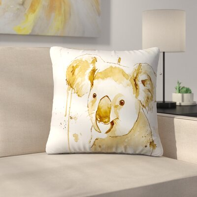 Koala Bear Throw Pillow Size: 18 x 18
