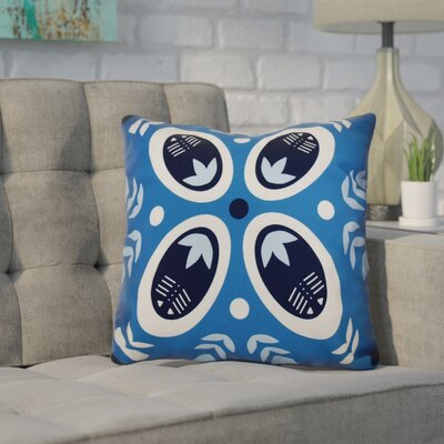 Mazee Decorative Holiday Geometric Print Outdoor Throw Pillow Size: 18 H x 18 W, Color: Teal