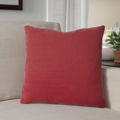 Forestburgh Solid Throw Pillow Color: Burgundy