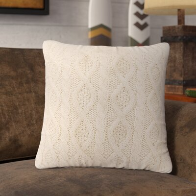 Polson Cable Knit Throw Pillow Color: Cream