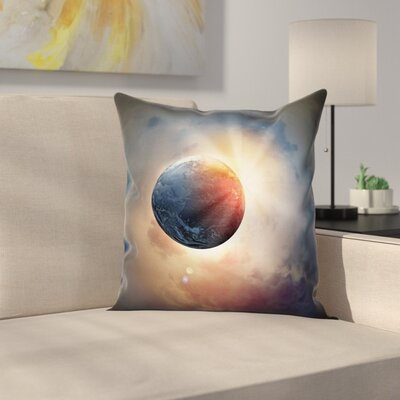 Days Circle Planet Sun Square Pillow Cover Size: 24 x 24