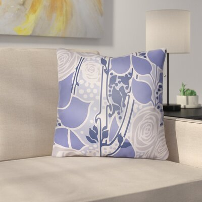 Capron Throw Pillow Size: 20 H x 20 W x 4 D, Color: Periwinkle