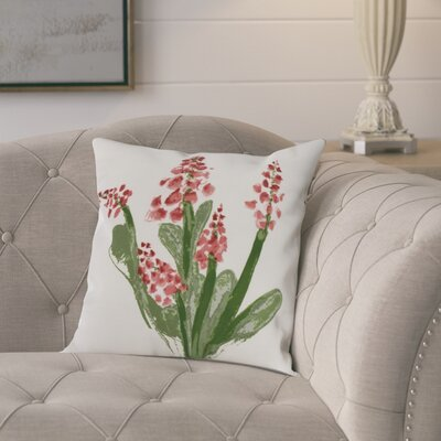 Kaylor Bluebell Indoor/Outdoor Throw Pillow Color: Red, Size: 16 x 16