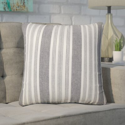 Wallin Striped Cotton Throw Pillow Color: Black/White