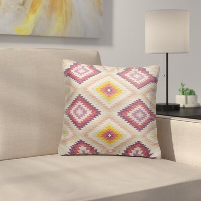Sulien Indoor/Outdoor Throw Pillow Size: 18 H x 18 W x 5 D, Color: Beige/ Pink/ Ivory/ Purple