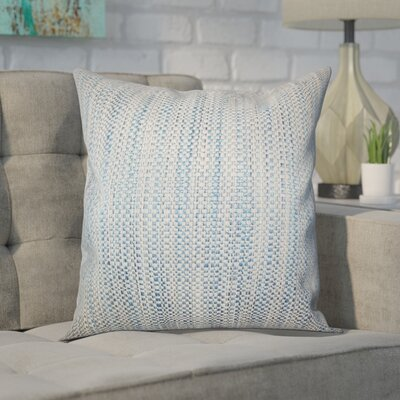 Kardos Throw Pillow Color: Blue, Size: 18x18