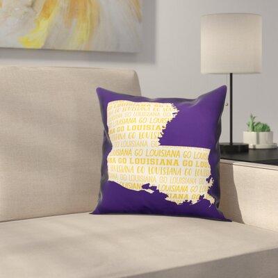 Louisiana Go Team Square Throw Pillow