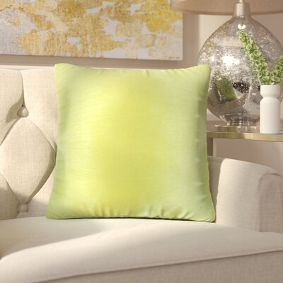 Lindner Solid Throw Pillow Color: Green