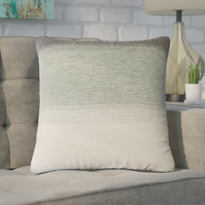 Wigington Ombre Down Filled Throw Pillow Size: 18 x 18, Color: Rain