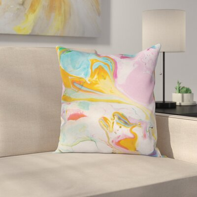 Surreal Abstract Art Square Pillow Cover Size: 20 x 20