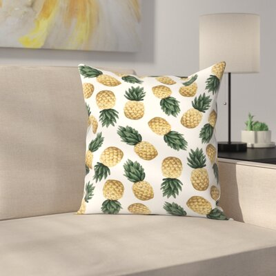 Jetty Printables Pineapple Throw Pillow Size: 20 x 20