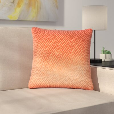 Stradford Solid Throw Pillow Color: Tangerine