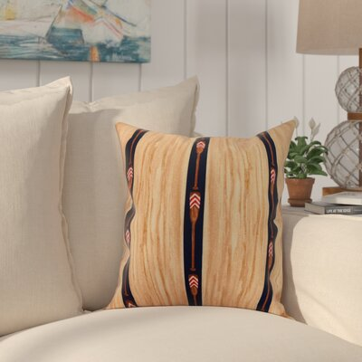 Bryson Oar Stripe Throw Pillow Color: Navy, Size: 26 x 26