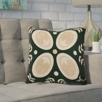 Mazee Decorative Holiday Geometric Print Throw Pillow Size: 16 H x 16 W, Color: Dark Green