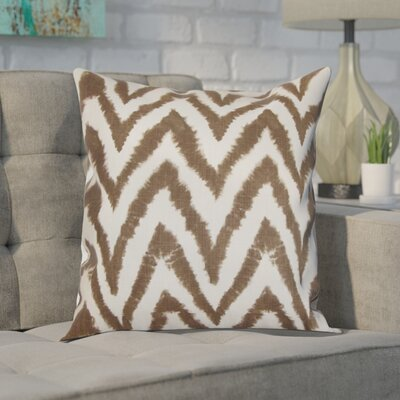 Dawkins Cotton Throw Pillow Color: Italian Brown, Size: 20