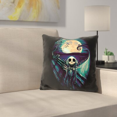 The Scream Before Christmas Throw Pillow Color: Black/Green