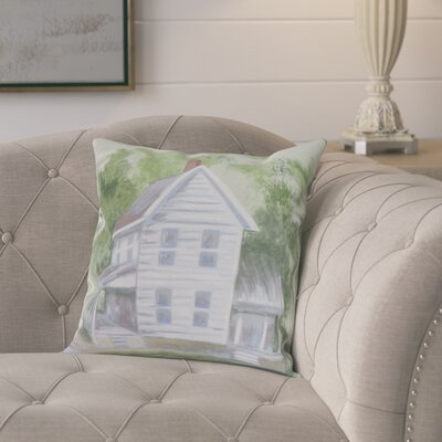 Devita Farmhouse Indoor/Outdoor Throw Pillow Color: Off/White, Size: 16 x 16