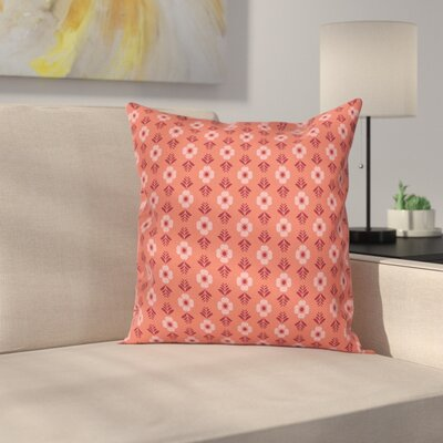Flower Floral Romance Square Pillow Cover Size: 20 x 20