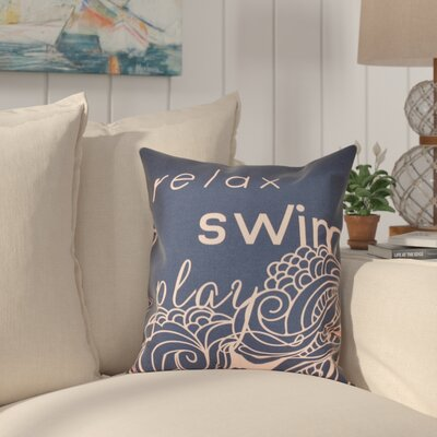 Grand Ridge Word Outdoor Throw Pillow Size: 18 H x 18 W